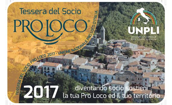 Ecco la nuova tessera del socio Pro Loco 2017