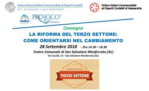 Il 28 settembre importante Convegno sulla Riforma del Terzo Settore