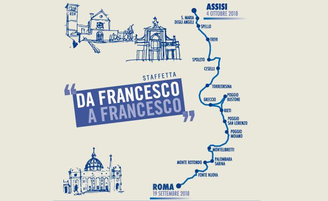 """La staffetta """"da Francesco a Francesco"""" è giunta alla quinta edizione"""