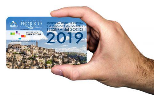 """Ecco la """"Tessera del Socio Pro Loco"""" 2019"""