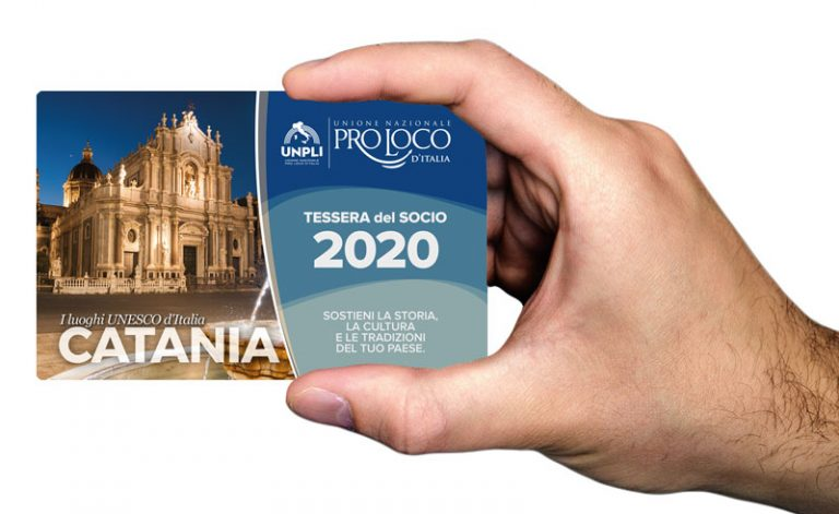 """Vi presentiamo la """"Tessera del Socio Pro Loco"""" 2020"""