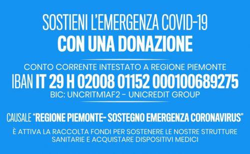 Avviata la campagna di donazioni per gli ospedali del Piemonte