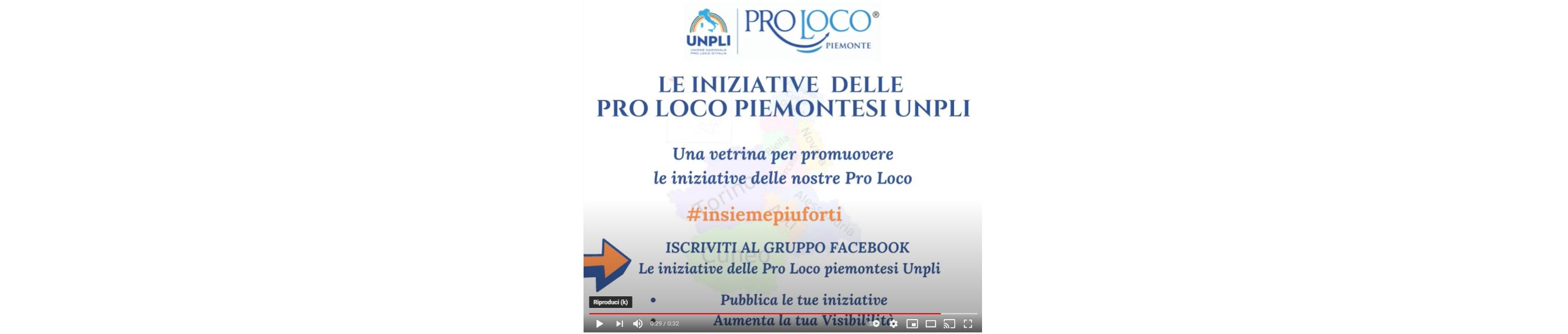 Un gruppo Facebook per pubblicizzare le iniziative delle Pro Loco. Video promozionale